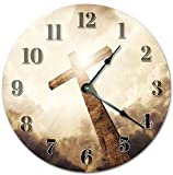 EasySells 10.5'' THE HOLY CROSS Clock - Large 10.5'' Wall Clock - Home Décor Clock