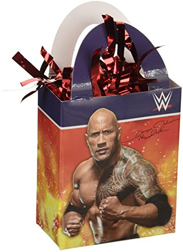 Amscan Wwe (World Wrestling Entertainment) Mini Tote Party Balloon Weight Decoration, Cardstock (12 Piece), 5.7 Oz by Amscan