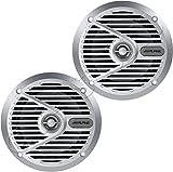 Alpine SPS-M601 110W 6-1/2'' 6.5'' 2-Way Type-S Marine Coaxial Speakers - Silver