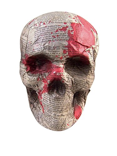 The Gothic Collection Halloween Paper Mache Skull Head Decoration -