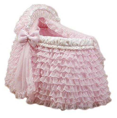 Babydoll Ruffled Pink Bassinet