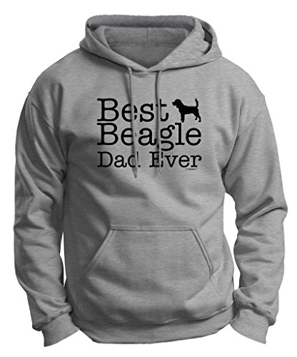Dog Lover Gift Best Beagle Dad Ever Premium Hoodie Sweatshirt Large LtStl Beagle Dogs Mens Hoodie