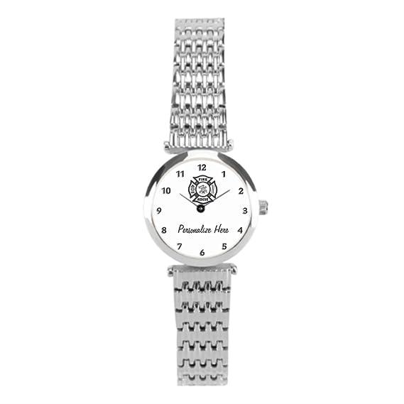 winlighting bombero de emergencia Mujer EMT muñeca relojes plata: Amazon.es: Relojes