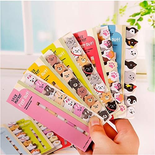 Kawaii Memo Pad Sticky Notepaper Notes Cartoon Animal Self-Stick Tab Bookmark Marker Pad Cartoon Office School Supplies