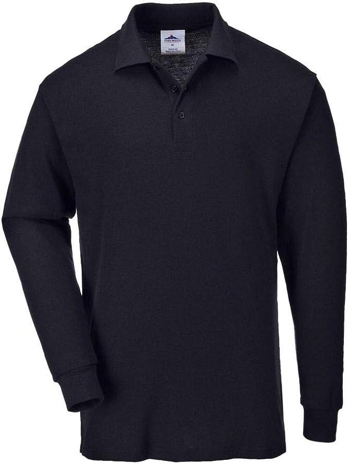 Portwest Workwear Mens Long Sleeved Polo Shirt: Amazon.co.uk ...