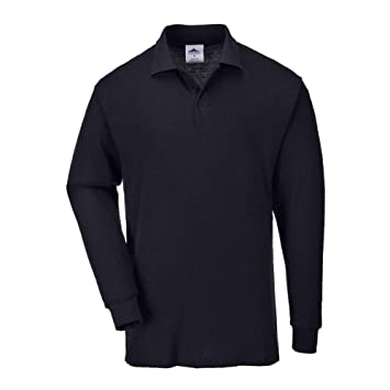 Portwest B212 - Camisa con mangas larga Polo, color Negro, talla 3 ...