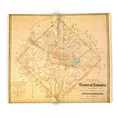 Society6 Civil War Washington D.C. Map Blanket