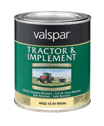 Valspar 4432-15 International Harvester White Tractor and Implement Paint - 1 Quart