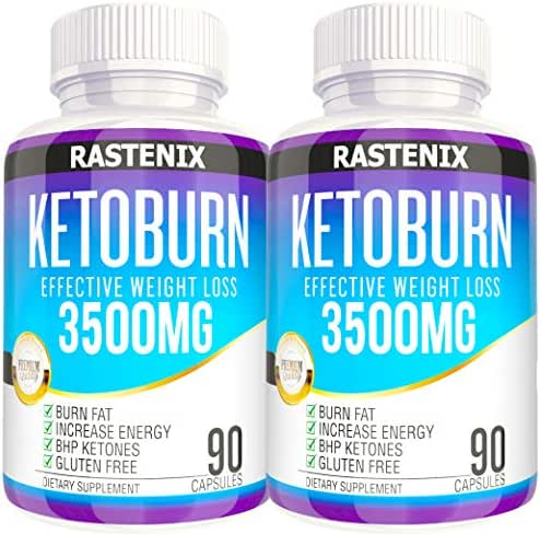 Keto Pills  -  3X Potent (2 pack | 180 Capsules) - Weight Loss Keto Burn Diet Pills - Boost Energy and Metabolism - Exogenous Keto BHB Supplement for Women and Men