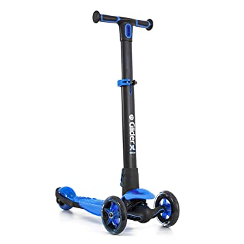 Yvolution Y Glider XL Deluxe | 3 Wheel Folding Scooter for Kids Age 3-8 Years with Safety Brake