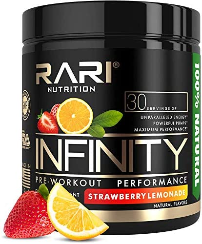 RARI Nutrition – Infinity Pre Workout Powder – Natural Preworkout Supplement for Men and Women – Keto and Vegan Friendly – No Creatine – 30 Servings – Strawberry Lemonade