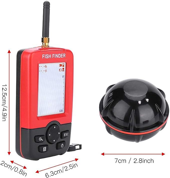 45M Portable Fish Finder Wireless Sonar Sensor Sounder Ocean Fish Detector P6