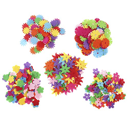 SuxiDi 100 Pieces Felt Flowers Fabric Flower Embellishments for DIY Crafts Sewing Handcraft, Assorted -
