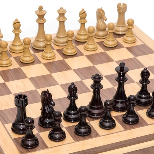 Columbus Park Chessmen & Battery Park City Chess Board with Storage