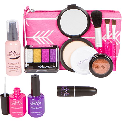 Cutegirl Cosmetics Pretend Play Makeup Kit. Designer Girls Arrow Essential Bag Set