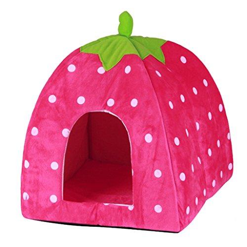 Folding Strawberry Pet Dog Cat Cuddler Bed House Sofa by ...