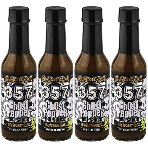 Mad Dog 357 Ghost Pepper Hot Sauce 5oz - Four Bottle Gift Pack