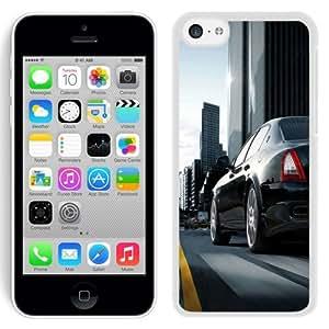 NEW Unique Custom Designed iPhone 5C Phone Case With Maserati Quattroporte Black City_White Phone Case