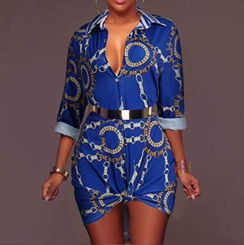 Camicie Down Stampa Bluse Ysfu Camicia A Lungo Donna Cappotto Petticoat Da Maniche Con Lunghe Button Camicetta Iybfg76vY