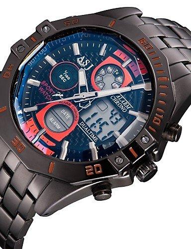sbsghdx® Múltiple día Digtal FECHA de anuncios Alam LCD impermeable Mens Cronógrafo el deporte muñeca reloj de cuarzo de estilo del ejército: Amazon.es: ...