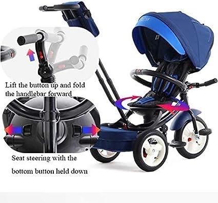 Schutzgel/änder Pedalbremse Baby trolley PIGE Multifunktions-Kinderdreirad 1-6 Jahre alte Kinder. Outdoor-Kinderwagen Kinderfahrrad