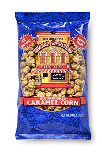 State Street Snacks Old Fashioned Caramel Popcorn, 8 oz. Bag, 12 Count