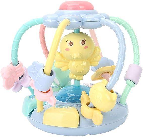 Tnfeeon Bola de Goma Manual para niños, Sonido e iluminación para ...