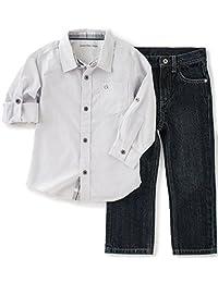 Conjunto de pantalones vaqueros y camisa para bebé Calvin Klein Baby Boys