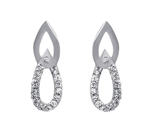 Clara sterling Silver Swarovski Studded The Sara Earring For Women Earrings at amazon