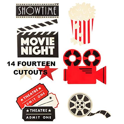 (Movie Night Cut-Outs Party Supplies Decoration Special Events 12)