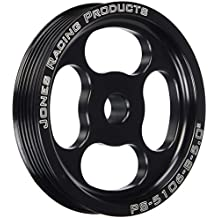 """Jones Racing Products (PS-5106-B-5.000) Serpentine Poly-V 6-Groove Press Fit Power Steering Pulley, 5"""""""