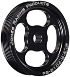 Jones Racing Products (PS-5106-B-5.000) Serpentine Poly-V 6-Groove Press Fit Power Steering Pulley, 5''
