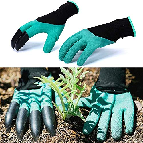 (Garden Gloves With Fingertips Claws Quick Easy to Dig and Plant Safe for Rose Pruning Gloves Mittens Digging)