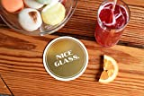 """Easy, Tiger Gold Foil Heavyweight Paper Coasters (set of 8), """"Nice Glass"""""""