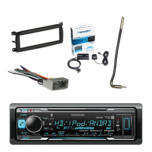 Kenwood In Dash Stereo Receiver Bluetooth With Sirius Radio Tuner Metra Dash Kit For Chry Dodge Jeep 98 Up Metra Chrysler 2002 Antenna Adapter Cable Metra Radio Wiring Harness For Chrysler 02 Up