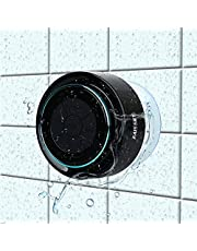 Altavoz Ducha Bluetooth,HAISSKY Impermeable Altavoz Inalámbrico Estéreo pares para todos Bluetooth dispositivos Samsung iPhone iPad,Manos Call Libres Altavoces Integrados para Hogar Fiesta Ducha Baño
