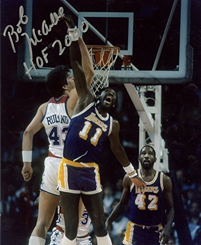 BOB MCADOO ACTION LOS ANGELES LAKERS SIGNED AUTOGRAPHED 8X10 PHOTO W/COA