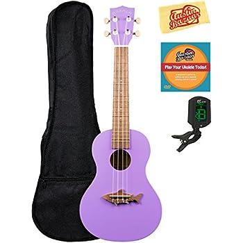 kala mk cs pur makala shark concert ukulele sea urchin purple bundle with gig bag. Black Bedroom Furniture Sets. Home Design Ideas