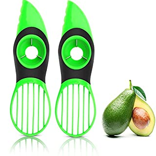 VAYAY 2 Pack-Avocado Slicer,3-in-1 Avocado Cutter Tool with Comfort-Grip Handle,BPA Free Multifunctional Avocado Knife,Works as Splitter Pitter Slicer Suitable for kiwi dragon fruit.