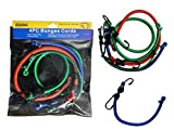 4PC Bungee Cord Set Sizes: 10'', 12'', 18'', 24'' L , Case of 72