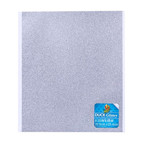 - Duck Brand Silver Glitter Adhesive Film Sheets 8.25-inches by 10-inches Set of 6