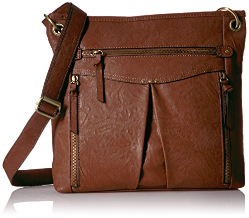Good Of Californiakvg-58120e - Shoulder Bag With Multiple Zippered Pockets Medium, Medium Brown Brown Woman
