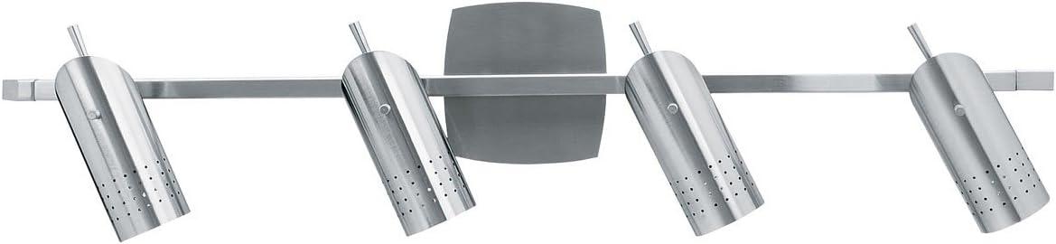 Brushed Steel Access Lighting 52020-BS/Odyssey 4-Light Ceiling//Wall Spotlight Rail