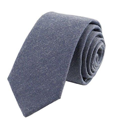 Men Skinny Pure Dark Grey Designer UK Tie Casual Trendy Necktie for Office-wear