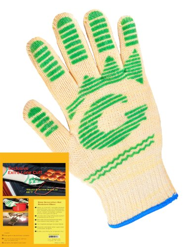 G & F 1684L Dupont Nomex  & Kevlar  Heat Resistant Gloves, Oven Gloves, BBQ Gloves, Large, 1 Pair by G & F Products (Image #1)