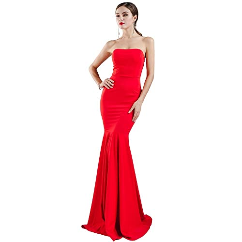 Miss ord Missord Womens Sleeveless Bra Mermaid Party Dress