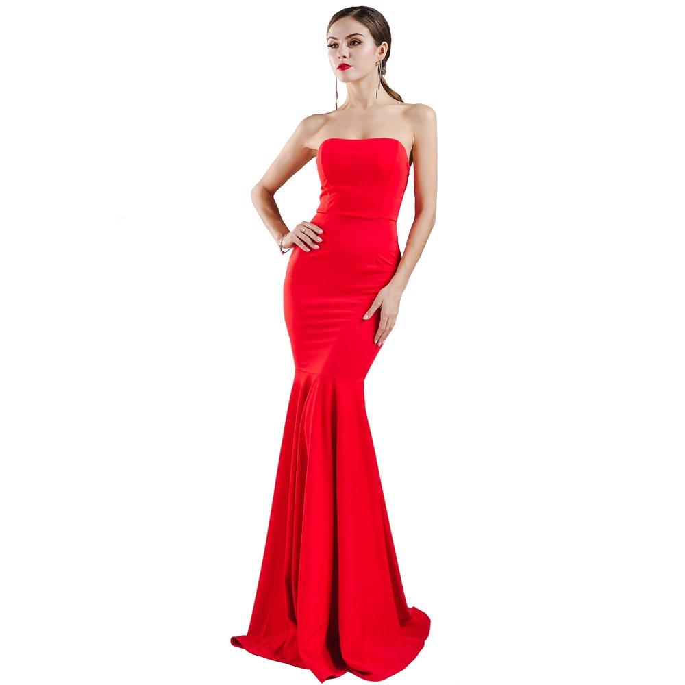 Miss ord Missord Womens Sleeveless Bra Mermaid Party Dress