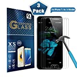 iPhone 7 Screen Protector (3 Pack) Tempered Glass Highly Durable and Scratch Resistant [Heavy Duty Protection] For Apple iPhone 6 & 6s {4.7 Inch}