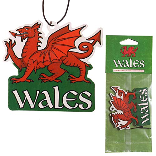 eUnique Welsh Dragon Car Air Freshener - Hang up with National Pride!