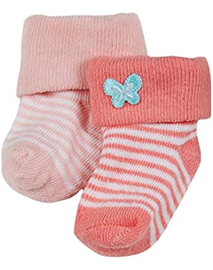 Baby Girls' 2 Pack Butterfly Keepsakes (Baby)